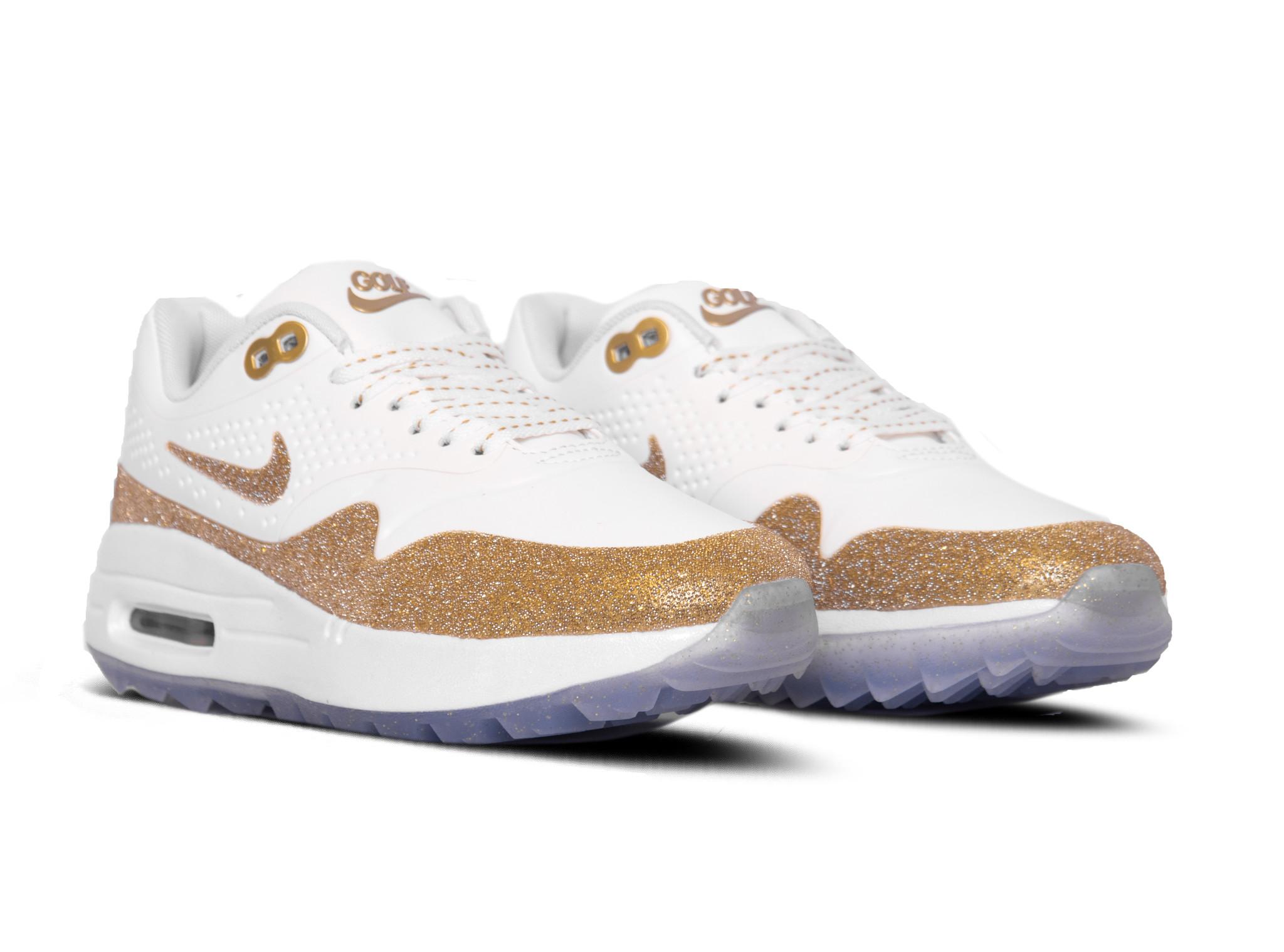 Nike Air Max 1 x Swarovski Summit White Metallic Gold White