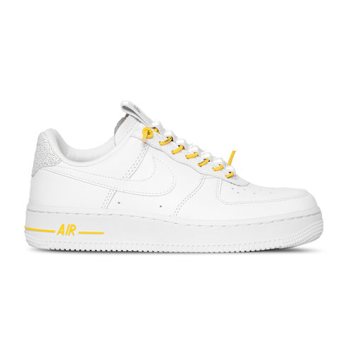 Air Force 1 '07 LUX White Chrome Yellow Black 898889 104