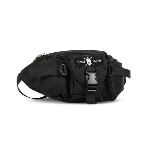 Black Multi Pocket Waist Bag
