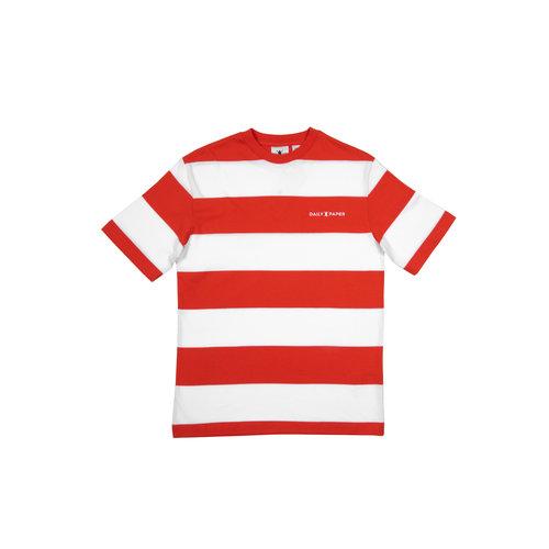 Striped T Shirt  Flame Orange  20E1TS03 02