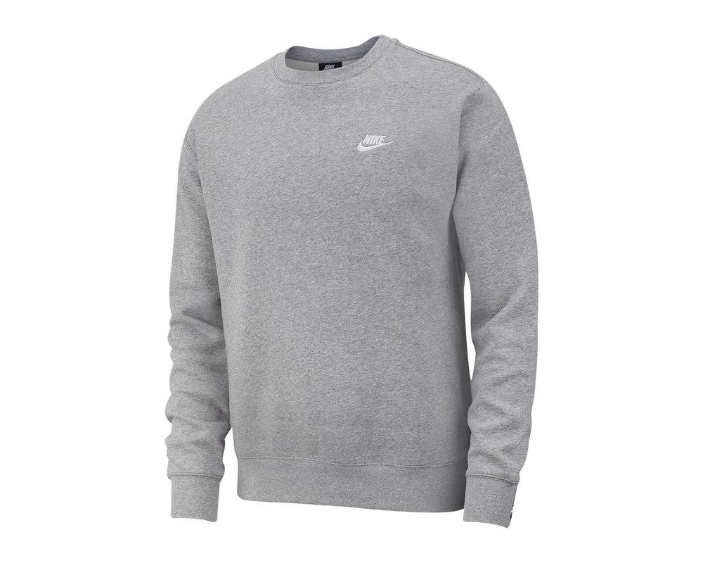 Nike NSW Club Crewneck   Grey Heather White BV2662 063