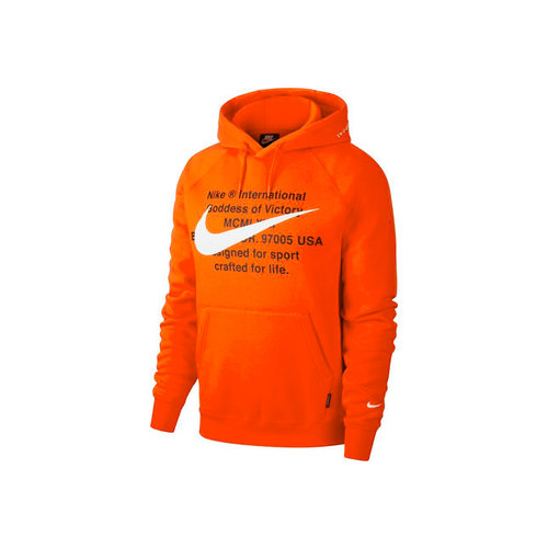 NSW Swoosh Hoodie Team Orange White CJ4861 891