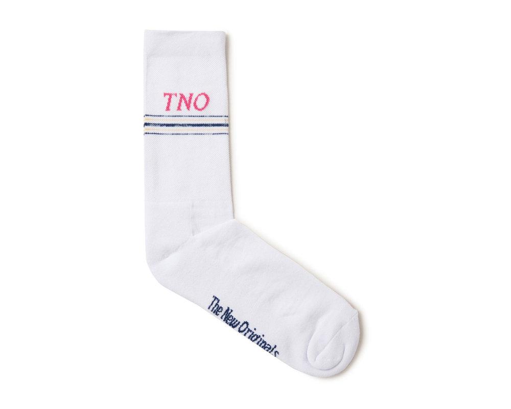 The New Originals Underline Sock White Pink TNO 16