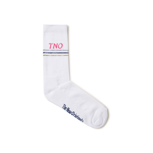 Underline Sock White Pink TNO 16
