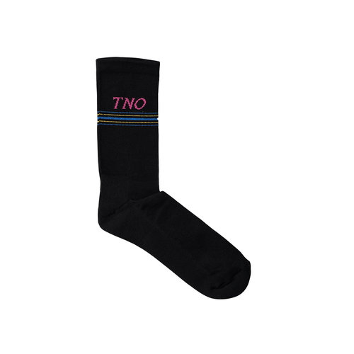 The New Originals Underline Sock Black Pink TNO 15