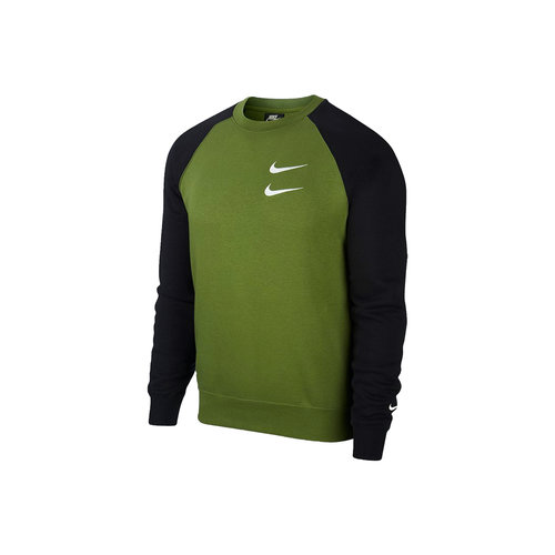 NSW Swoosh Crewneck Treeline Black White CJ4865 326