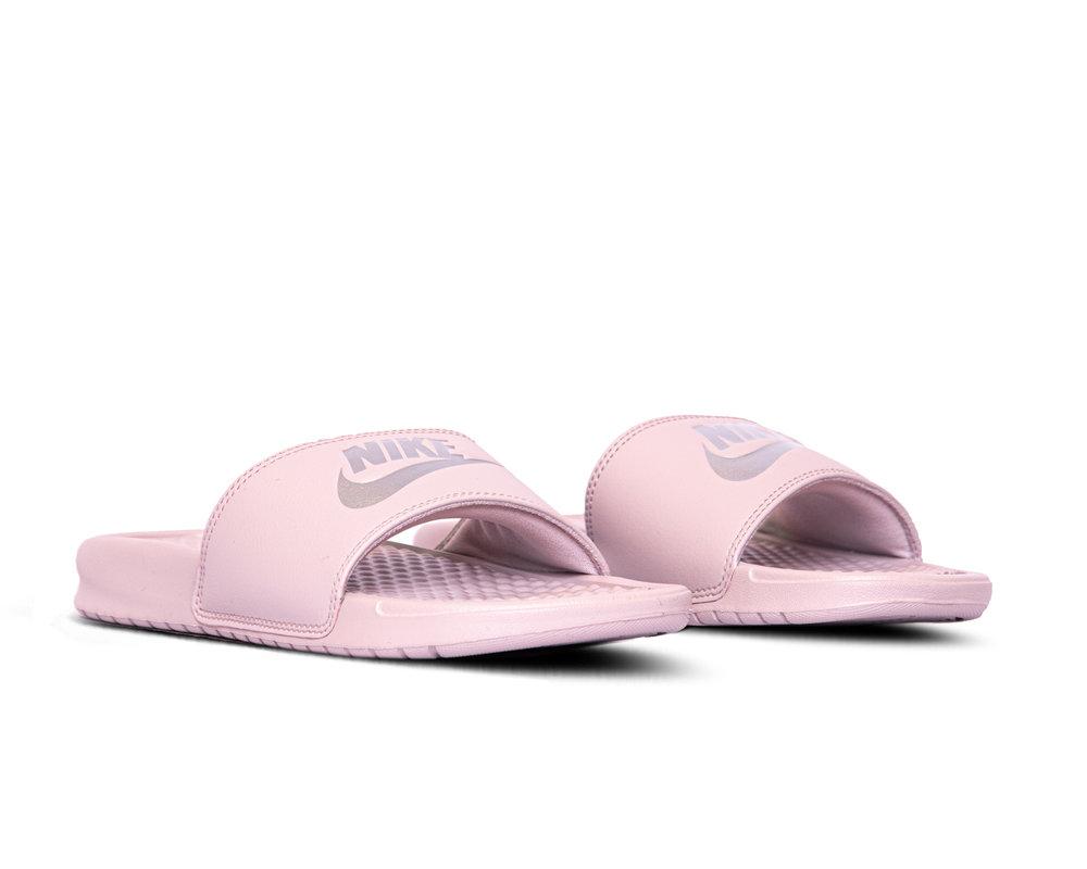Nike Benassi Jdi  Particle Rose Metallic Silver  343881 614