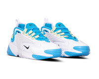 Nike WMNS Zoom 2K Blue Fury Black White Limelight AO0354 401