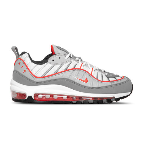 Air Max 98 White Particle Grey Track Red Iron Grey CI3693 001