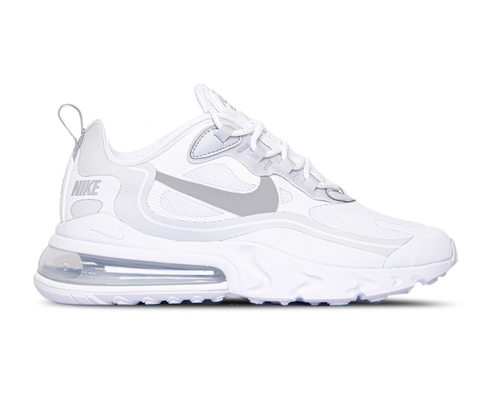 Nike Air Max 270 React White Pure Platinum Cool Grey Light Smoke Grey CV1632 100