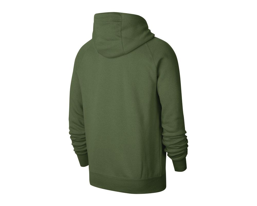 Nike NSW Swoosh Hoodie Treeline Green White CJ4861 326