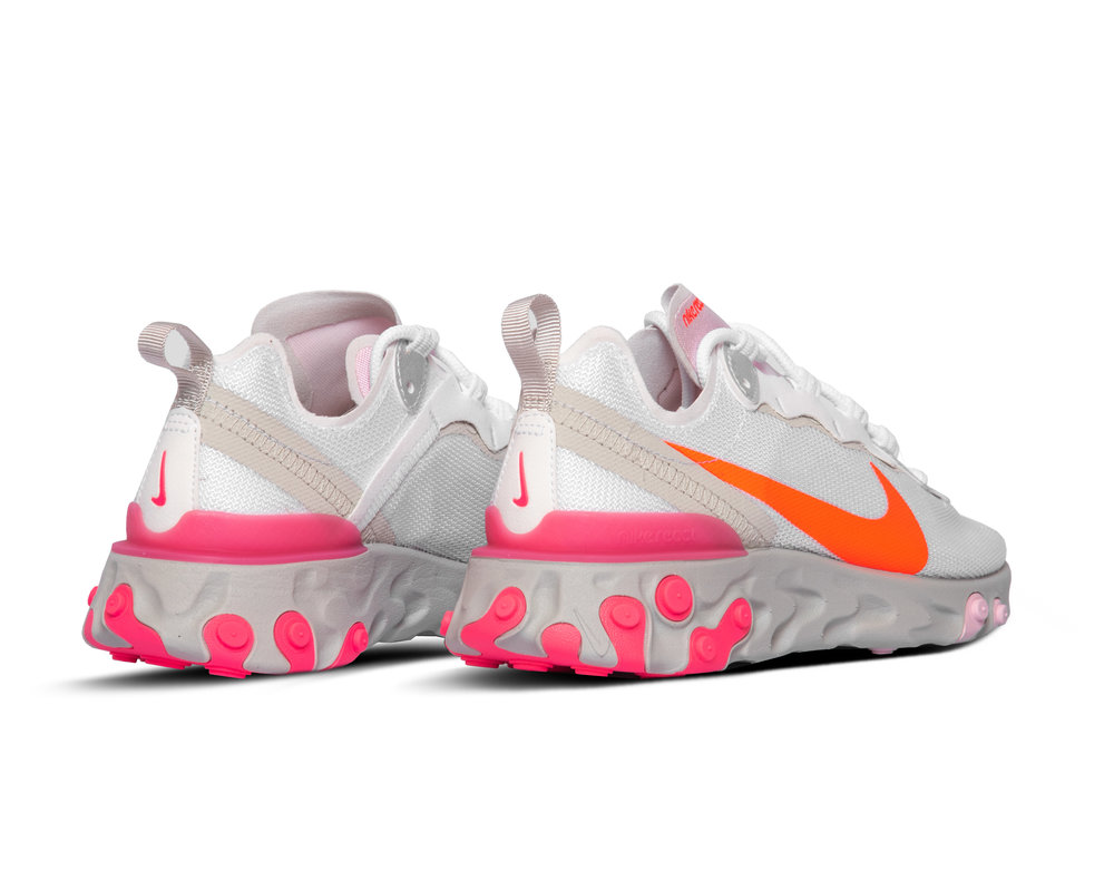 Nike React Element 55 White Hyper Crimson Digital Pink CV3035 100