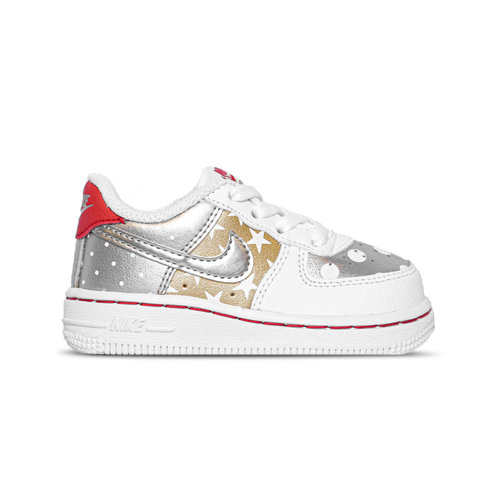 Force 1 Low  White Metallic Silver Metallic Gold  CT9136 100