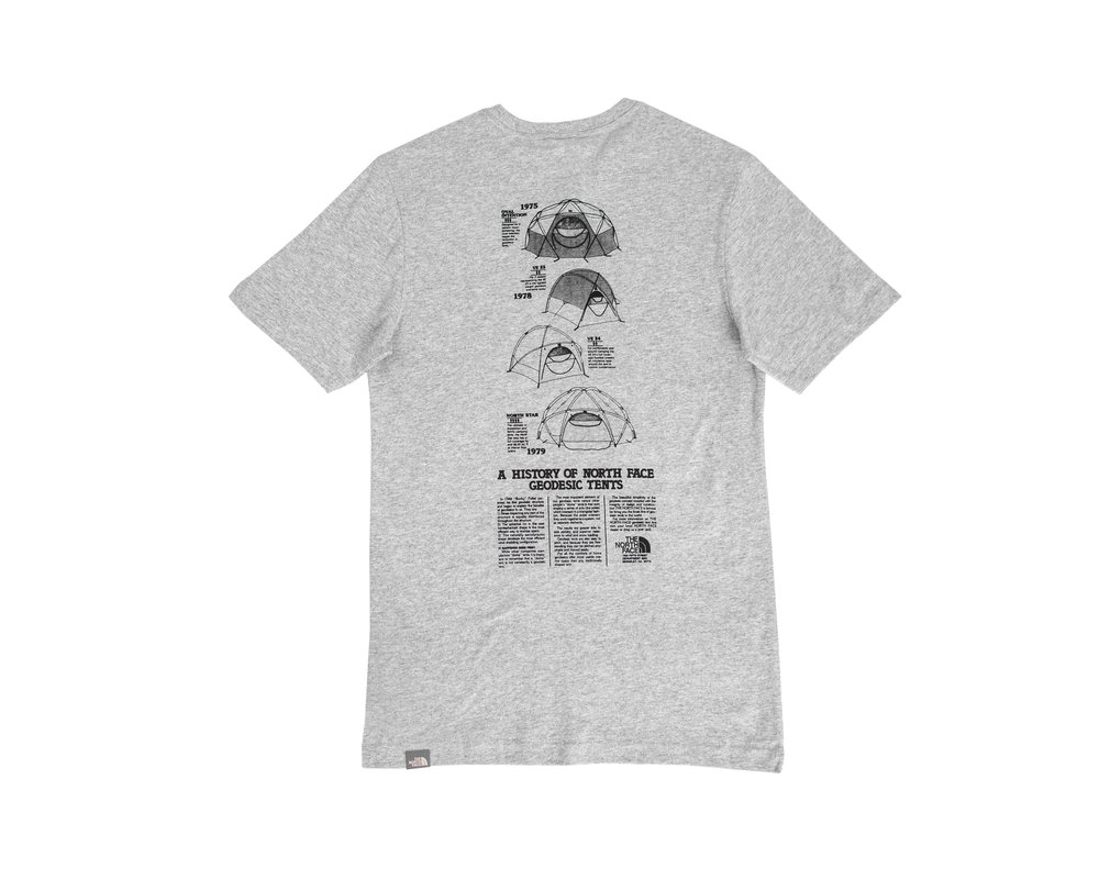 The North Face Graphic Tee Light Grey Heather NF0A493MDYX1