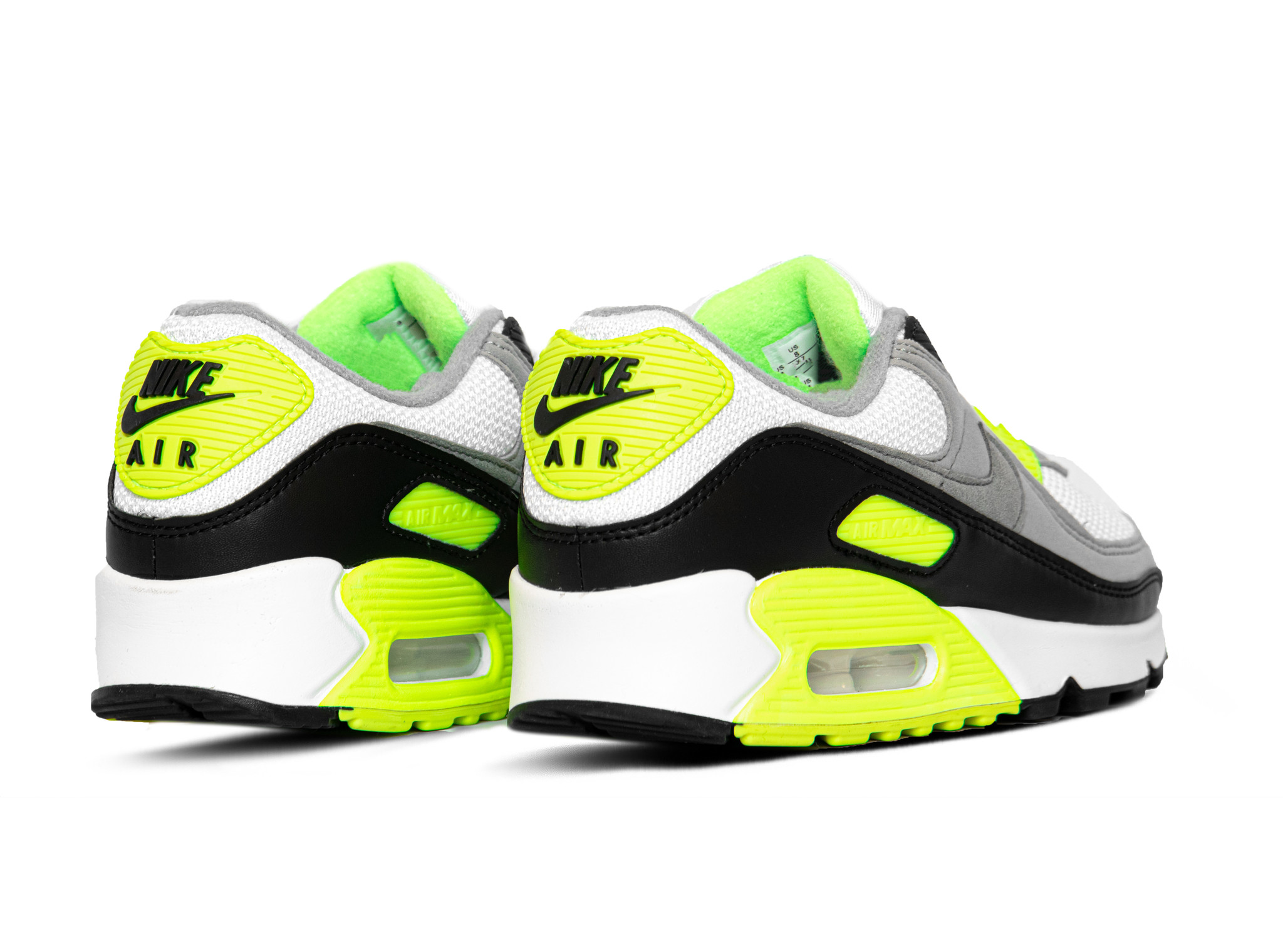 Nike Air Max 90 White Particle Grey Volt Black CD0881 103