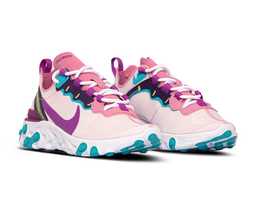 Nike React Element 55 Magic Flamingo Vivid Purple Eggplant BQ2728 603