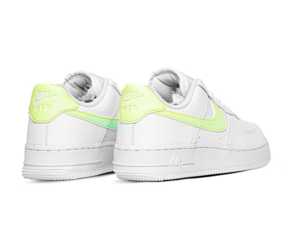 Nike W Air Force 1 07 White Barely Volt White White 315115 155