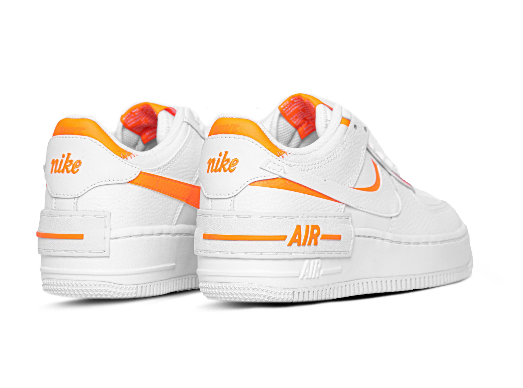 Nike Air Force 1 Shadow White Summit Whit Total Orange