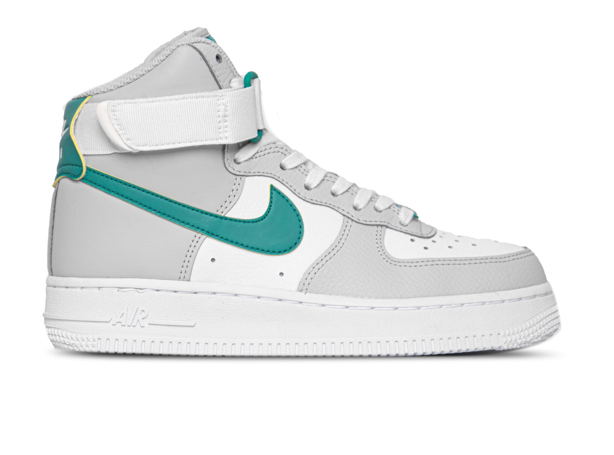 Nike Air Force 1 High Grey Fog Neptune Green 334031 015