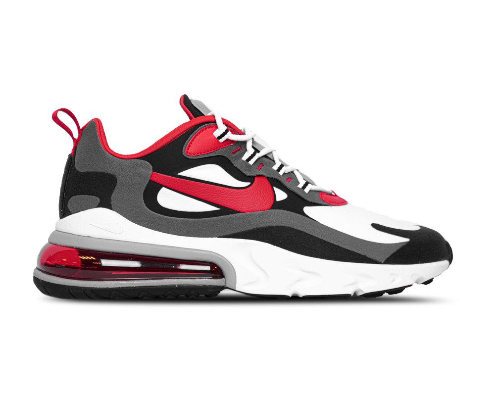 Nike Air Max 270 React Black University Red White Iron Grey CI3866 002