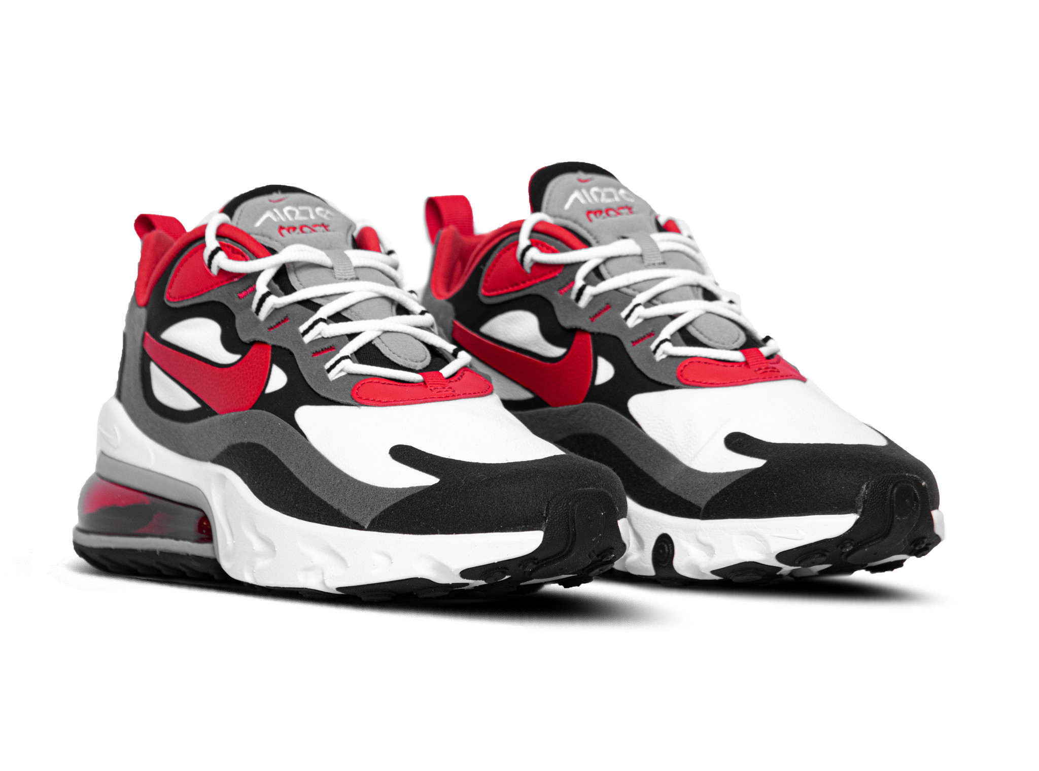 Nike Air Max 270 React Black University Red White Iron Grey CI3866 002