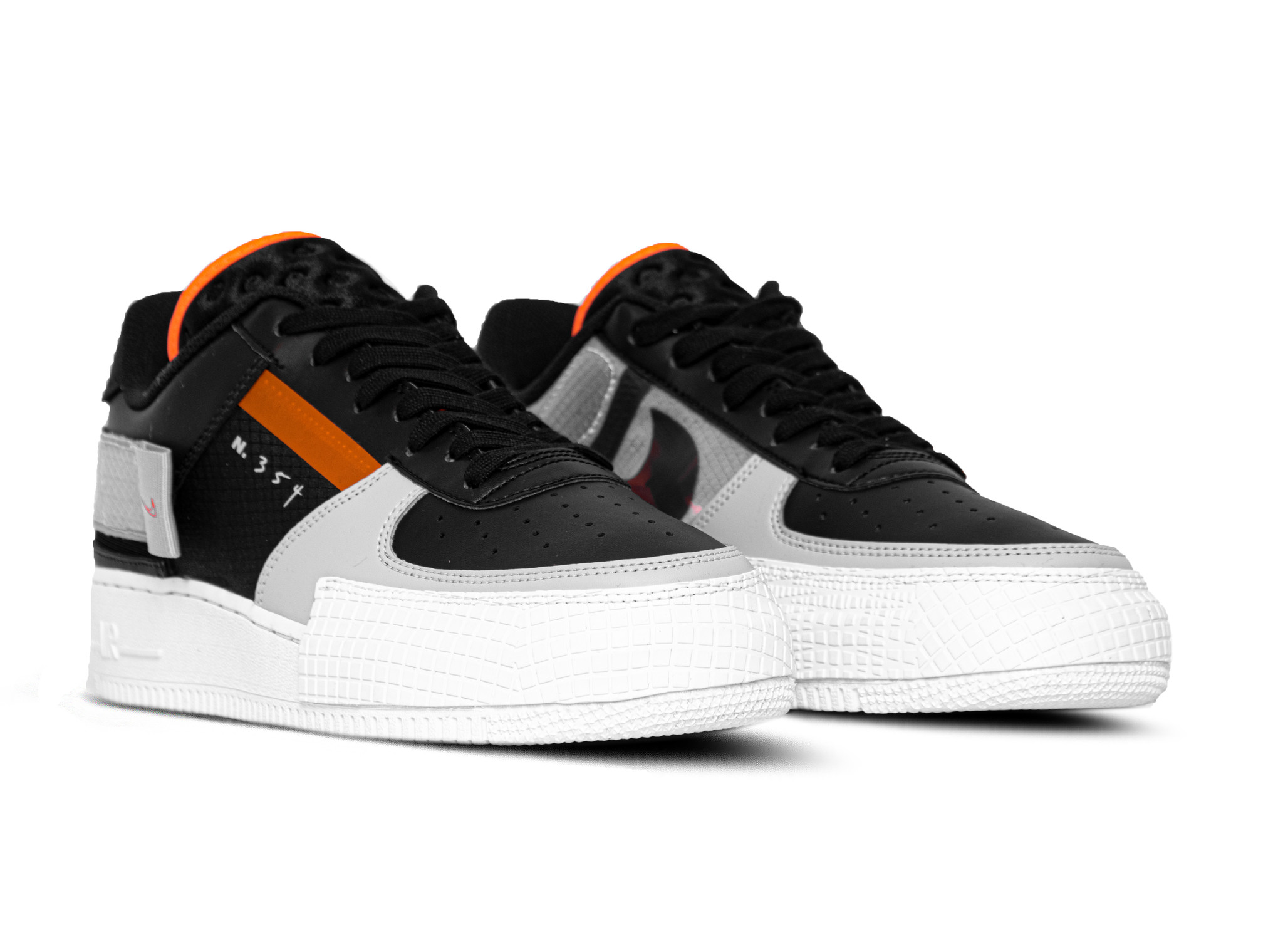 Nike Air Force 1 Type Shoes BlackWolf GreyWhiteHyper