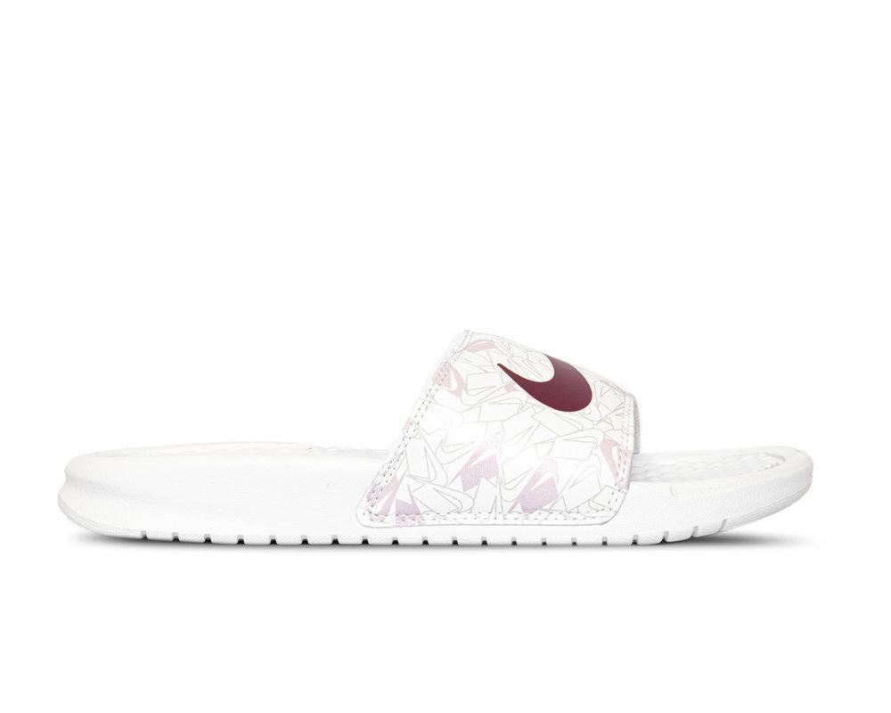 Nike Benassi JDI Summit White Spruce Aura Iced Lilac 618919 117