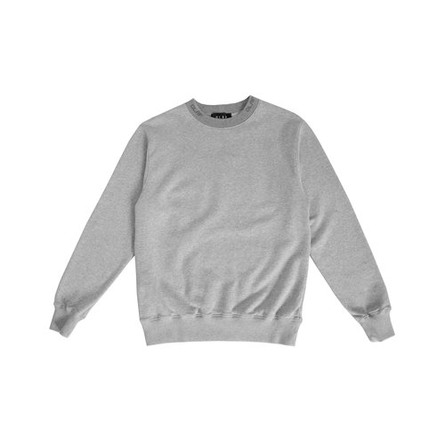 Branded Rib Crewneck Heather Grey SS20 0024