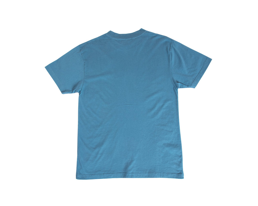 Olaf Hussein Serif Tee Blue SS20 0003