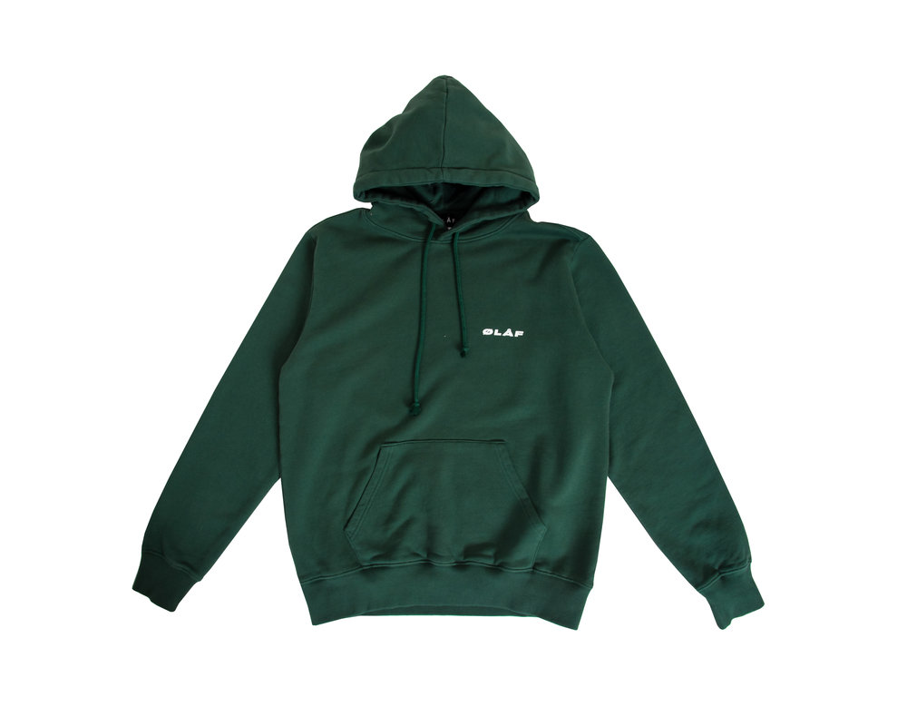 Olaf Hussein Hoodie Dark Green SS20 0016