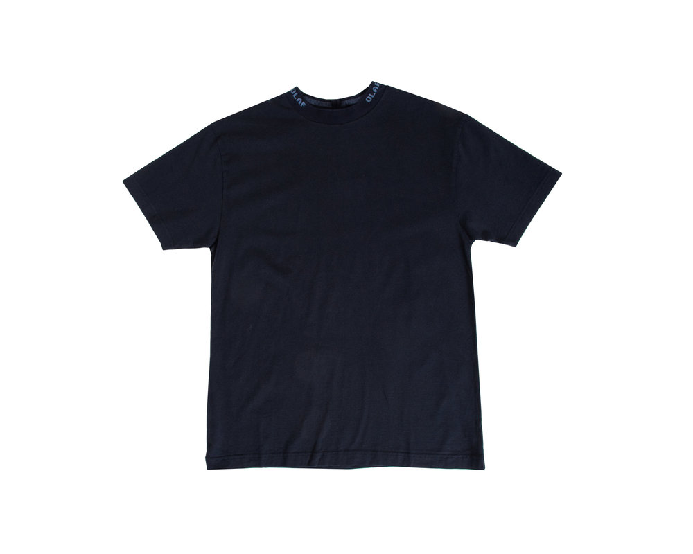 Olaf Hussein Branded Rib Tee Navy SS20 0006