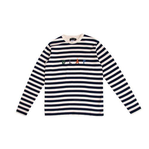 Stripe Sans LS White Blue SS20 0015