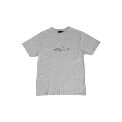 Italic Tee Heather Grey SS20 0004