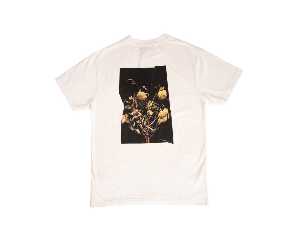 Olaf Hussein Flower Tee White SS20 0008
