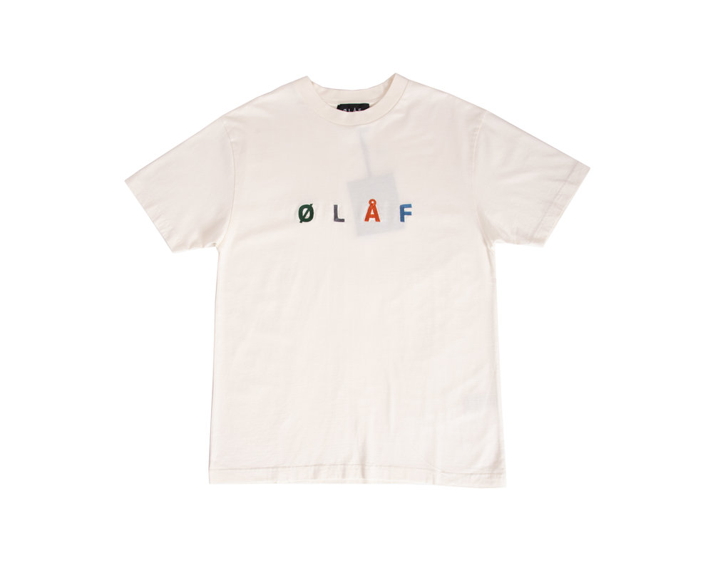 Olaf Hussein Chainstitch Tee White SS20 0001