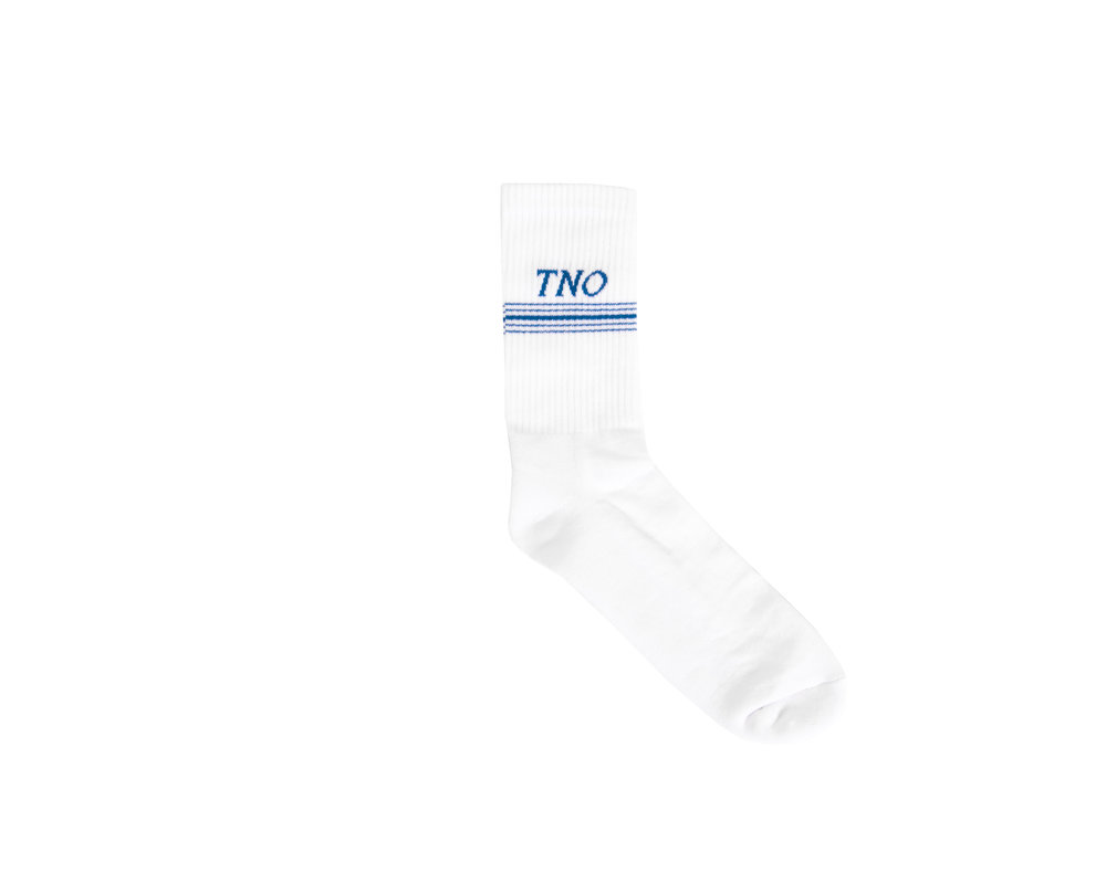 The New Originals Underline Socks White Blue TNO19