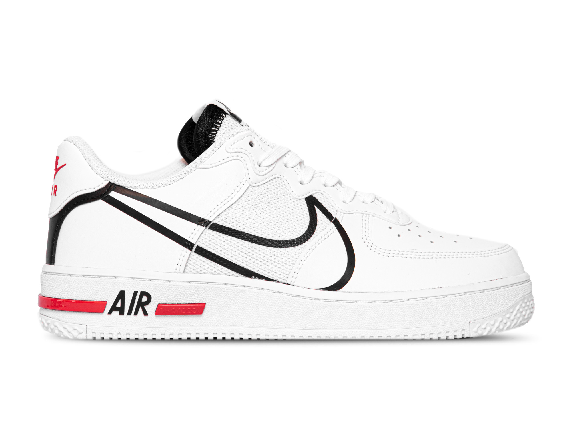 Air Force 1 React White Black University Red CD4366 100