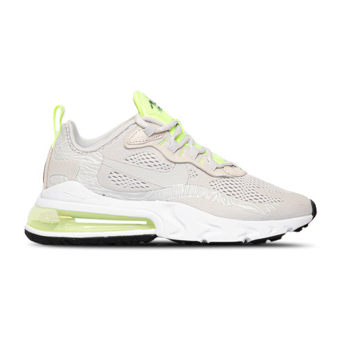 WMNS Air Max 270 React Vast Grey Vast Grey Ghost Green White CU3447 001