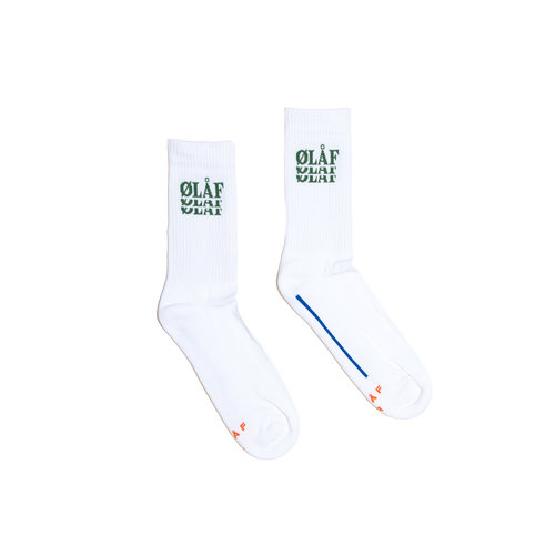 OLAF Triple Socks White