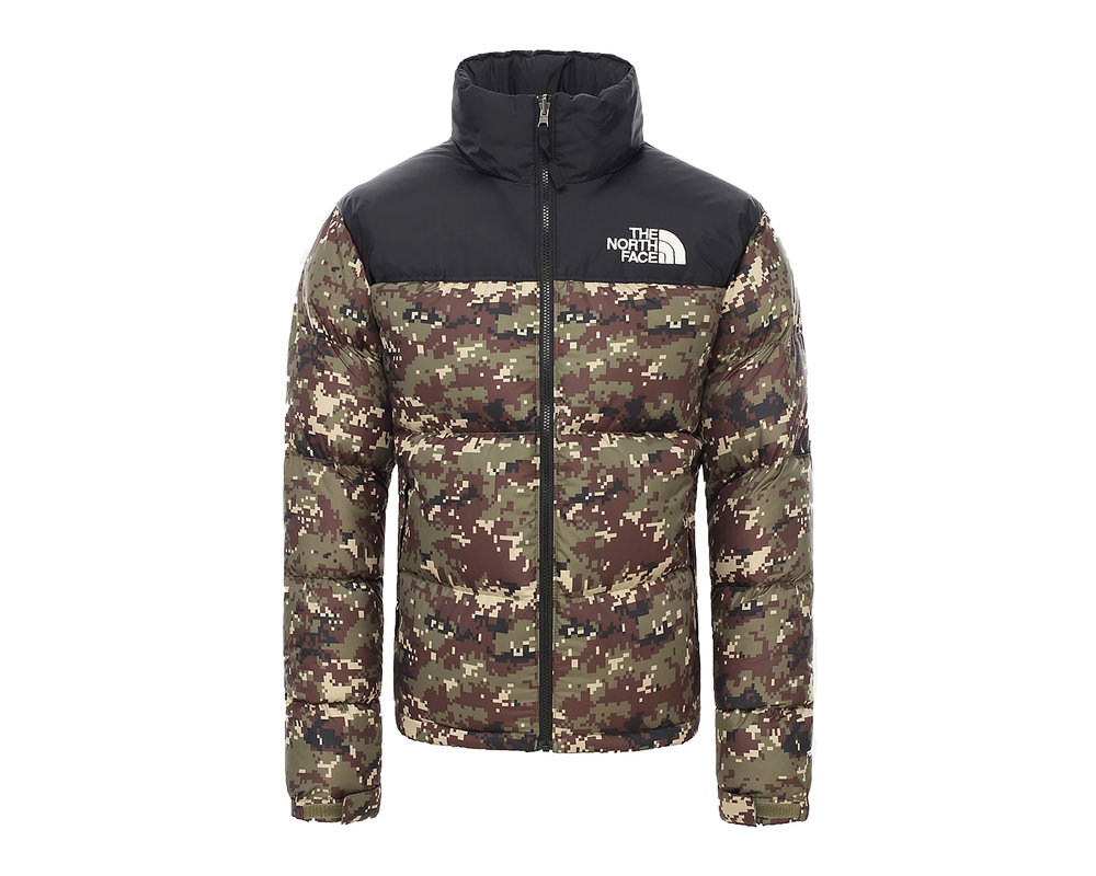 The North Face M 1996 Retro Nuptse Jacket Burnt Olive Green Ux Digi Camo NF0A3C8DLJ8