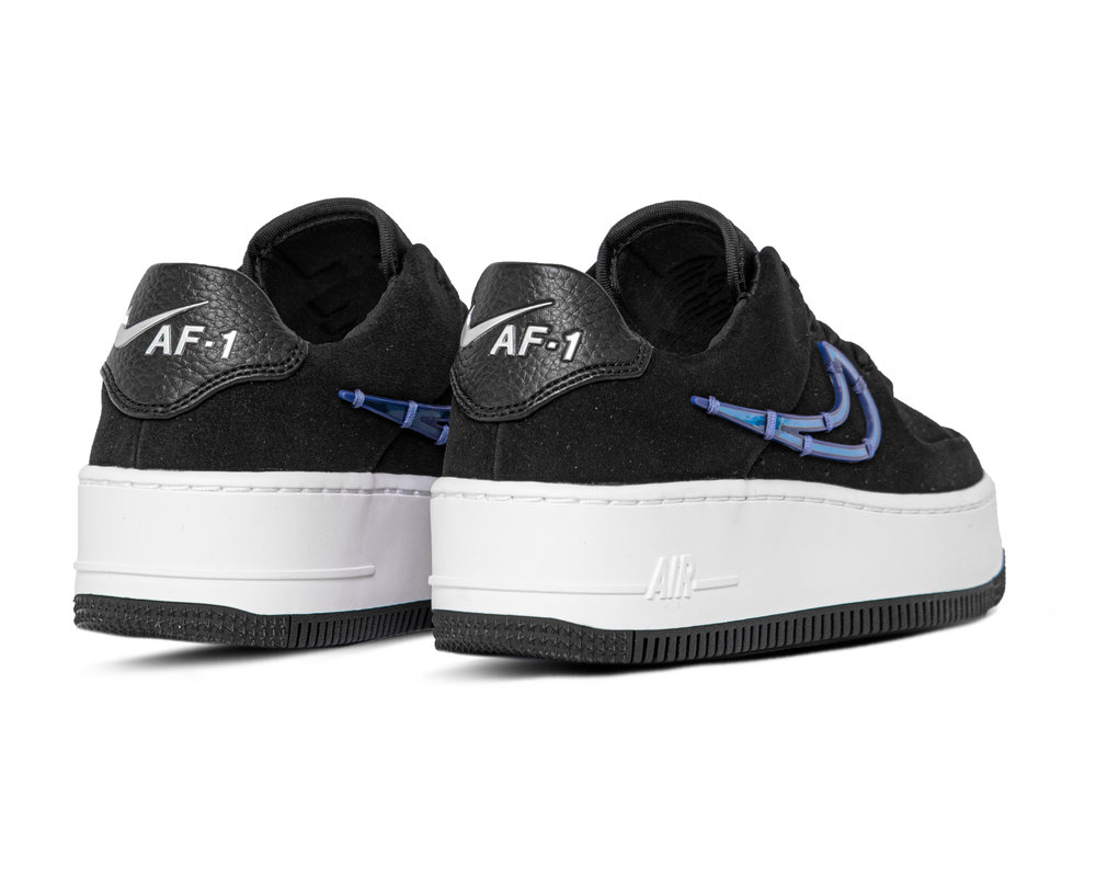 Nike W AF1 Sage Low LX Black Deep Royal Blue Metallic Silver CI3482 001