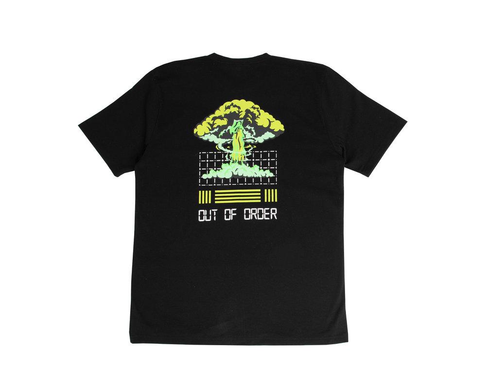 Bruut Out Of Order T Shirt Acid Green HFD046