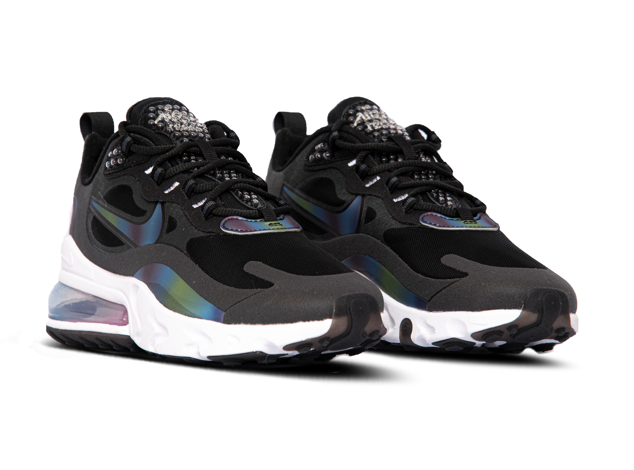 Nike Air Max 270 React 20 DK Smoke Grey Multi Color Black White CT5064 001