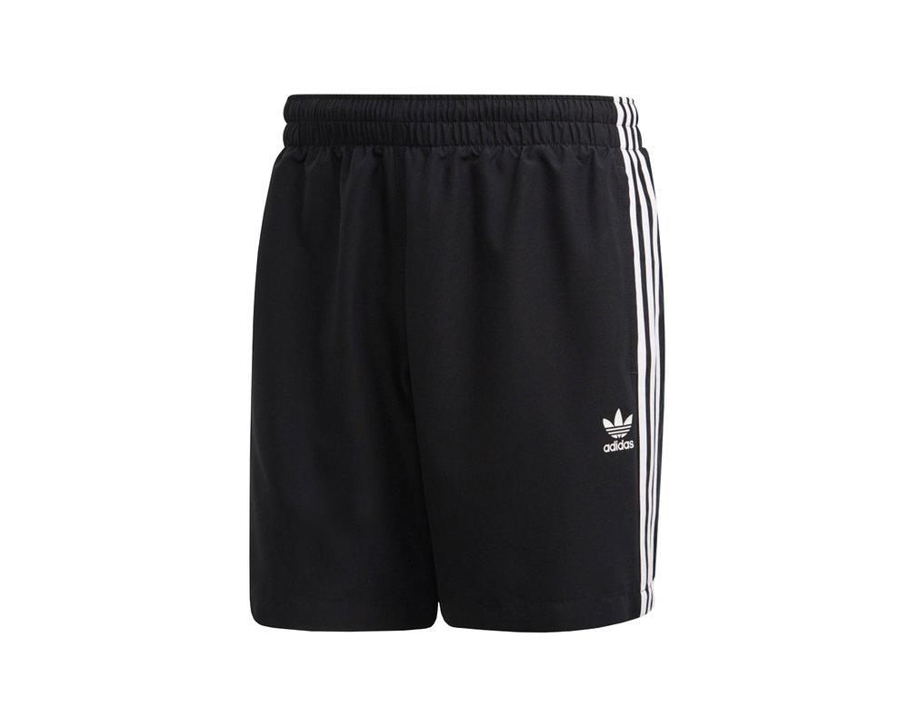 Adidas 3 Stripe Swim Short Black FM9874