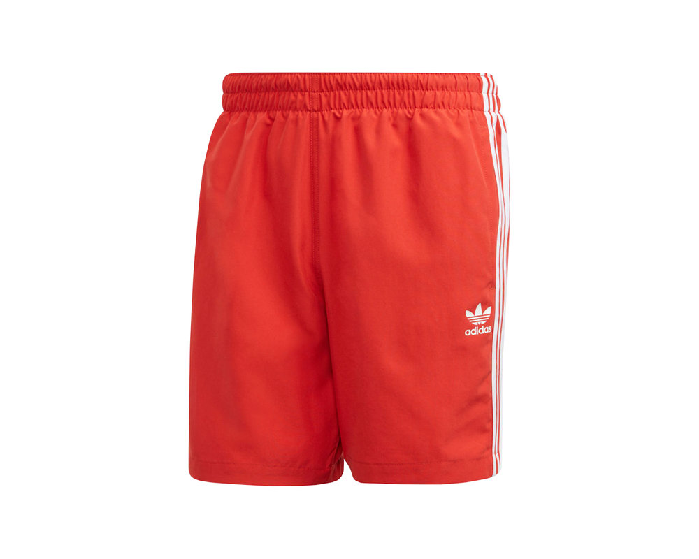 Adidas 3 Stripe Swim Short Lus Red FM9876