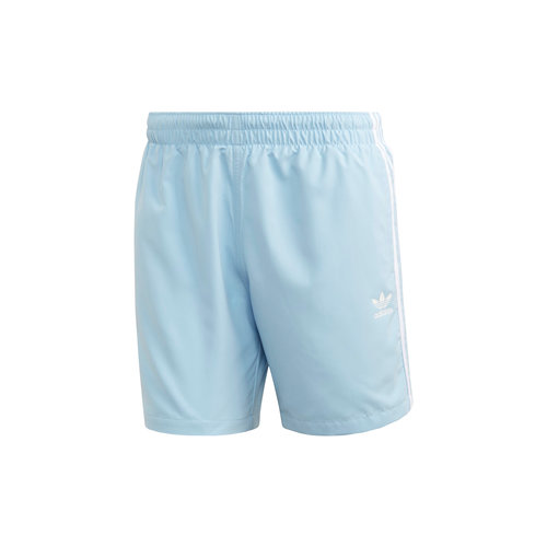 3 Stripe Swim Short Clear Sky FM9875