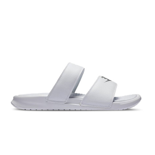 WMNS Benassi Duo Ultra Slide White Metallic Silver 819717 100