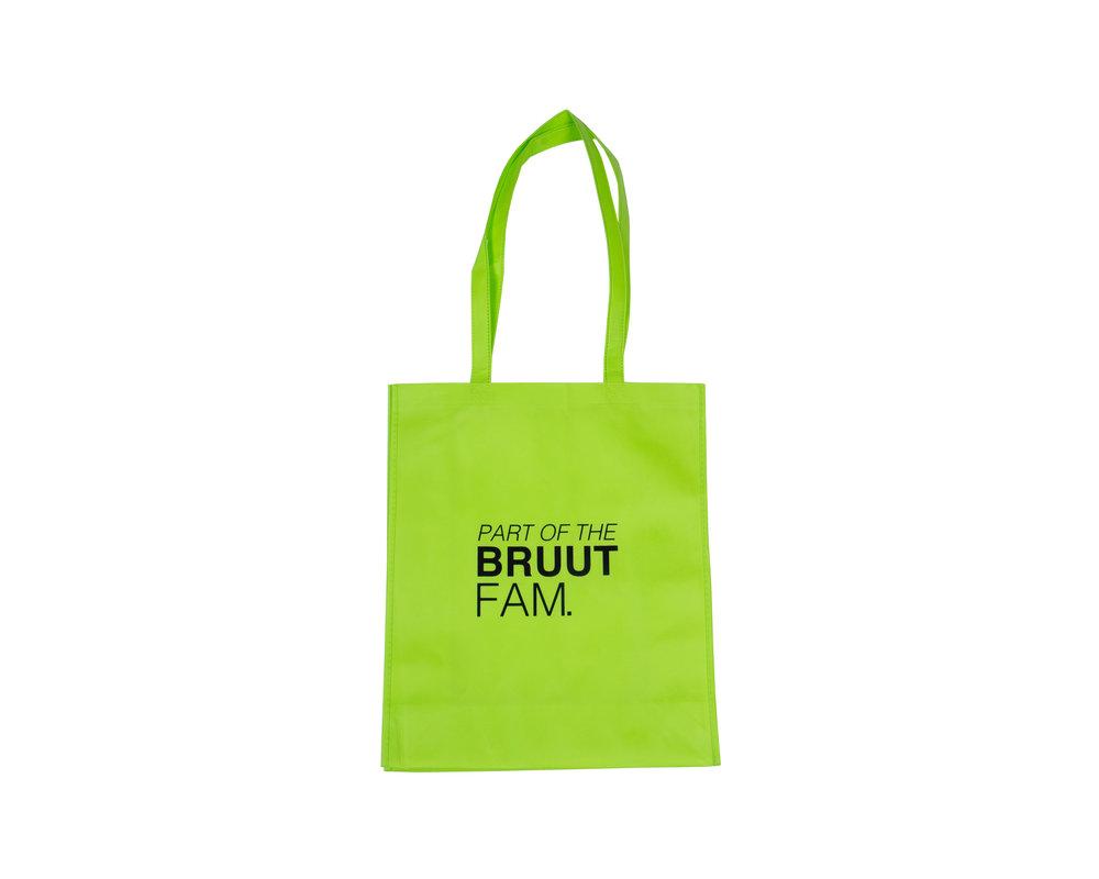 Bruut Exclusive Totebag Acid Lime