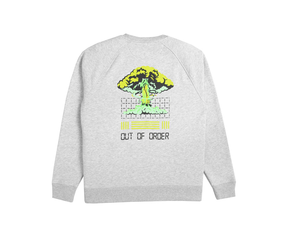 Bruut Out Of Order Crewneck Grey Acid Green HFD044