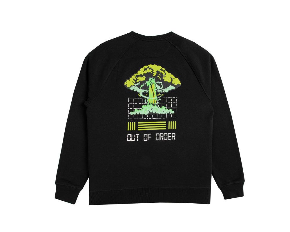 Bruut Out Of Order Crewneck Black Acid Green HFD045